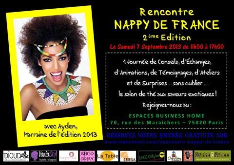 Affiche de la rencontre des nappys de France, beauté noire au naturel